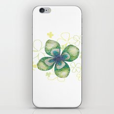 Four-leaf clover iPhone & iPod Skin