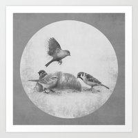kindle Art Prints featuring Parisian Sparrows  by Terry Fan