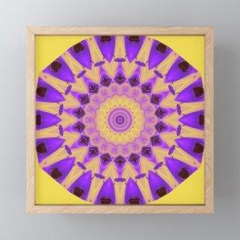 Bold Purple and Yellow Mandala Framed Mini Art Print