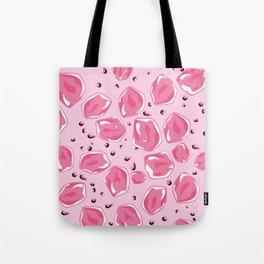 Digital Art Pink Pastel Crystal Summer Ice Cubes Tote Bag