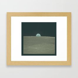 "Original Photograph ""Harvest Moon"" from Apollo 11 Framed Art Print"