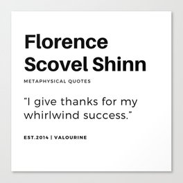 72   | Florence Scovel Shinn Quotes | 200126 Canvas Print