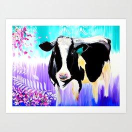 Divine Bovine Art Print