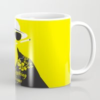 fear and loathing Mugs featuring Fear and Loathing in Las Vegas by Jordi Hayman Design