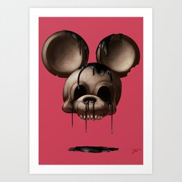 Mickey 1: Chocolate Art Print
