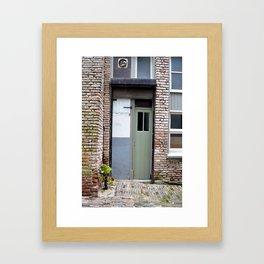 Narrow door Framed Art Print