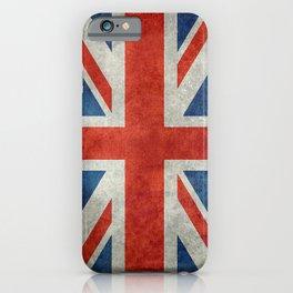 "English Flag ""Union Jack"" bright retro 3:5 Scale iPhone Case"