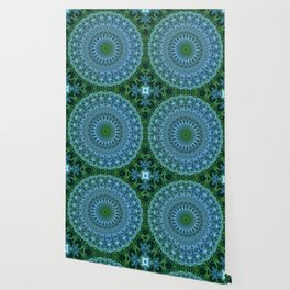 Blue and green mandala Wallpaper