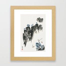Crusing on the river Framed Art Print