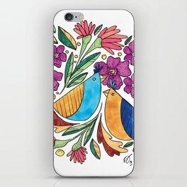 Birds & flore iPhone Skin