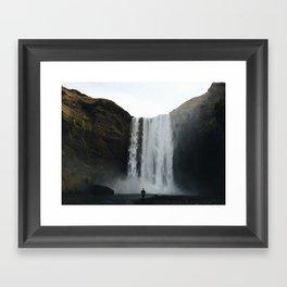 skogafoss, waterfall Framed Art Print