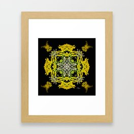 Crowning Goldenrod and Silver king Kaleidoscope Scanography Framed Art Print