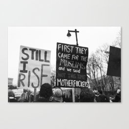 women's march philly Canvas Print