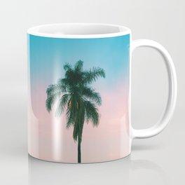 Pastel Sky Palm Tree - Los Angeles, California Coffee Mug