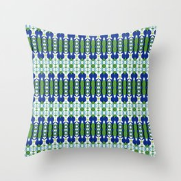 Blue and Green Calm Throw Pillow