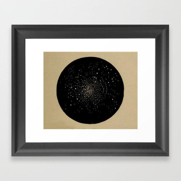 Star Cluster Gerahmter Kunstdruck