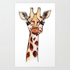 Oh hello Giraffe Art Print