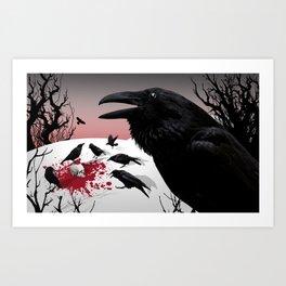 """Murder!"" She Crowed Art Print"