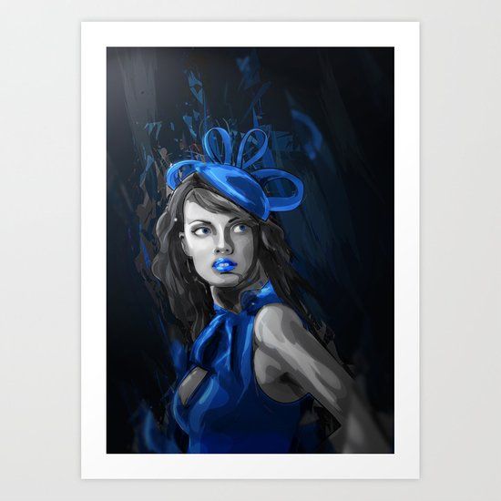 The Blue Art Print
