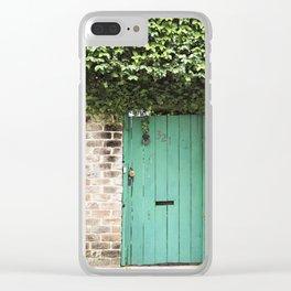 Savannah Georgia 321 Green Door Clear iPhone Case