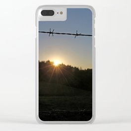 barbed wire Clear iPhone Case