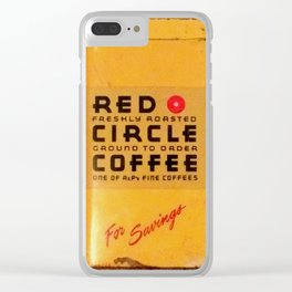 Red Circle Coffee Clear iPhone Case