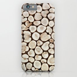 Background of wooden slices tree iPhone Case
