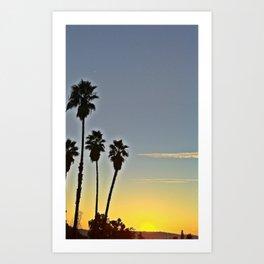 Sunset with Palms Art Print