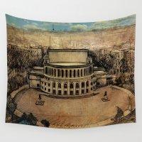 theater Wall Tapestries featuring Yerevan Opera Theater by Narek Gyulumyan