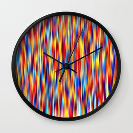 vertical primaries Wall Clock