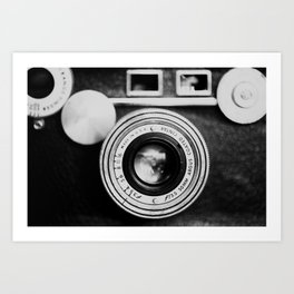 """the """"brick"""" ... a vintage camera photograph in back and white Art Print"""