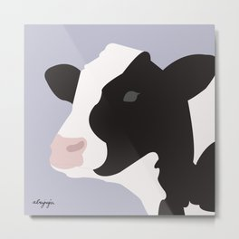 Portrait of cow Metal Print