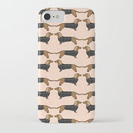 Happy Dachshund Dogs by Andrea Lauren  iPhone Case