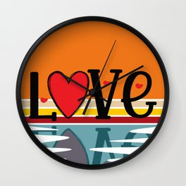 Retro Love Reflection Wall Clock