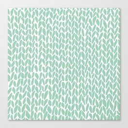 Hand Knit Zoom Mint Canvas Print