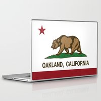 oakland Laptop & iPad Skins featuring Oakland California Republic Flag by NorCal