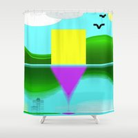 illusion Shower Curtains featuring Illusion by Cs025