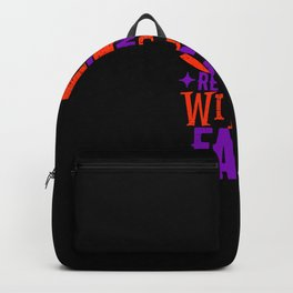 Resting Witch Face Funny Halloween Backpack