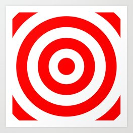 Target (Red & White Pattern) Art Print