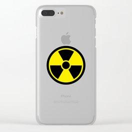radioactive symbol Clear iPhone Case