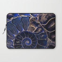 Earth Treasures - Ammonite in blue tones Laptop Sleeve