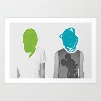 Two Uknown Boys Art Print