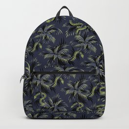 Snake Palms - Dark blue/gold Backpack