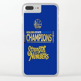 Wariors Champions 2017 Clear iPhone Case