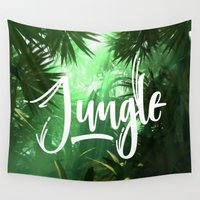 jungle Wall Tapestries featuring Jungle by Insait disseny