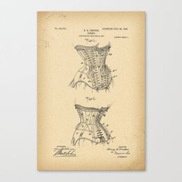 1908 Patent Corset Canvas Print