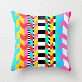 Crazy 90s Sweater Recreation Throw Pillow
