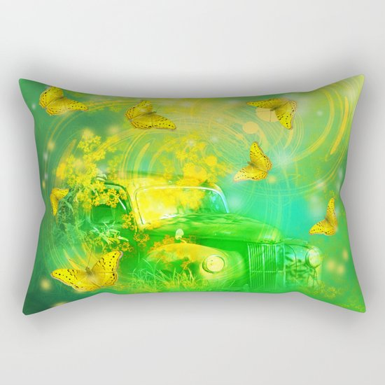 Dream wreck with butterflies Rectangular Pillow
