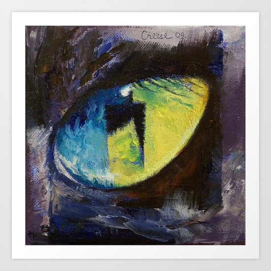 Blue Cat Eye Art Print