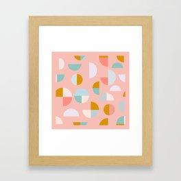 Pretty Geometric Painting Framed Art Print